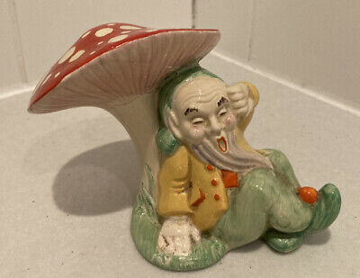 Very Rare Clarice Cliff Gnome Sleeping Under Toadstool 1936/38 • 34£