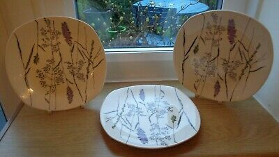 3 Medium Midwinter Pottery Tea Plates - Jessie Tait - Whispering Grass - 6  GC • 6.40£