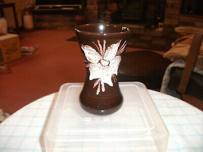 Tenby Pottery Small Brown Vase 3 3/4  High • 1.99£
