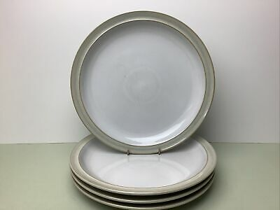 Denby Linen 4 X Large Dinner Plates Used Condition 26.50cm • 24.99£