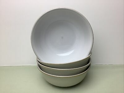 Denby Linen 4 X Soup / Cereal Bowls Used With Utensil Marks Condition 16.40cm • 14.99£