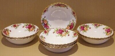 ### Eight Royal Albert Old Country Roses Dessert Bowls ### • 31£