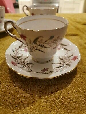 Vintage Royal Standard 4 Cups And Saucers - Fancy Free - 1230  • 13.50£