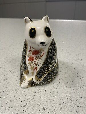 Royal Crown Derby Paperweight Panda Silver Stopper Excellent Condition • 40£