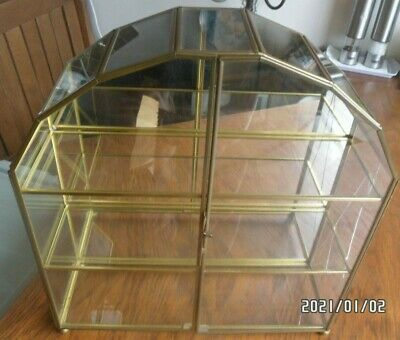 Gold Rim Glass Curio Cabinet (used) • 20£