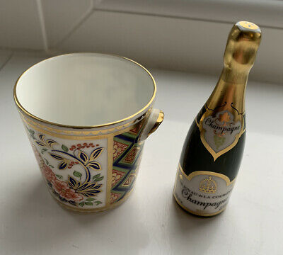 Royal Crown Derby 1128 Imari Miniature Champagne Bottle And Ice Bucket • 20.40£