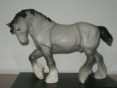 Beswick Large Action Shire 2578 In Grey Matt  • 135£