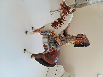 Beswick Horse Mounted Indian Model 1391 Been Restored • 135£