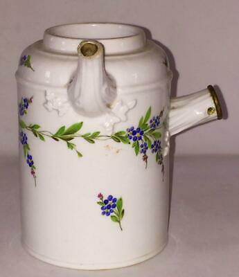 18th C Meissen Exquisitely Hand Painted Forget-me-nots Hot Chocolate Pot C 1774 • 134.99£