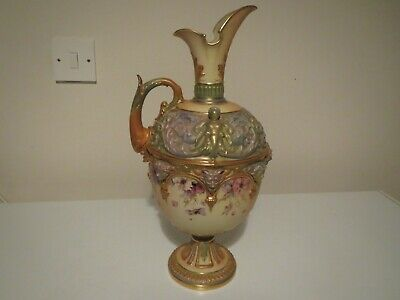 Large Royal Worcester Blush Ivory Urn In Mint Condition Year 1897 15  High • 700£