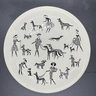 """Alfred Meakin Ladies And Dogs 7"""" Plate • 12£"""