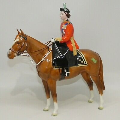 Beswick HM Queen Elizabeth II On Imperial Trooping The Colour Figure 1546 • 276.73£
