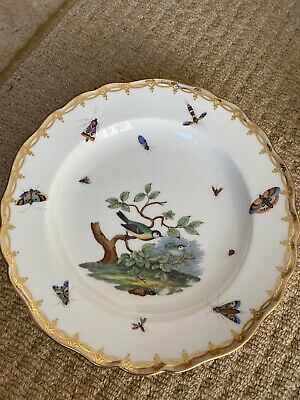 Hand Painted China Plate Birds Insects Moths • 9.99£