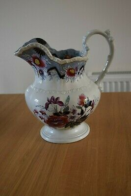 Stunning Victorian Ewer By Ridgway, Hand Painted • 45£