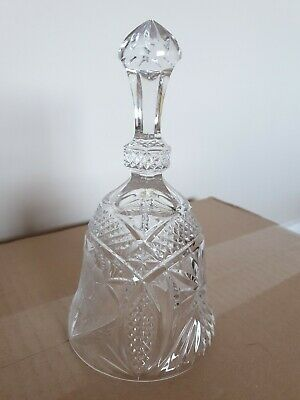 CRYSTAL CLEAR GLASS BELL 7 Inches High • 1.50£