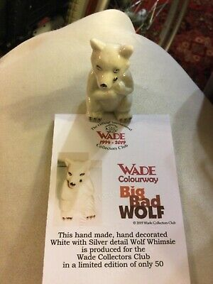 Wade White Silver Whimsie Colourway Big Bad Wolf / Limited Edition Of Only   50 • 25£
