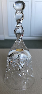 Vintage Cut Glass Crystal Bell With Ringer • 9.95£