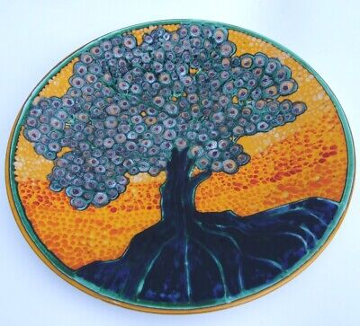 Poole Pottery Studio Charger By Tony Morris Signed - Stunning !! • 155£