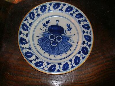 18th Century Delft Blue And White Plate • 19.99£