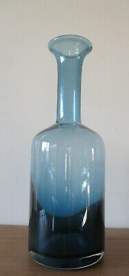 Oka Long Necked Glass Decanter. Blue. Used - Excellent Condition, No Damage. • 10.50£