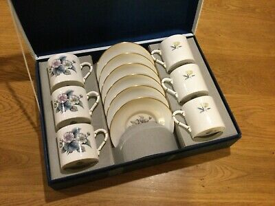 Great Royal Worcester Boxed 6 Piece Coffee Service !!! • 5£