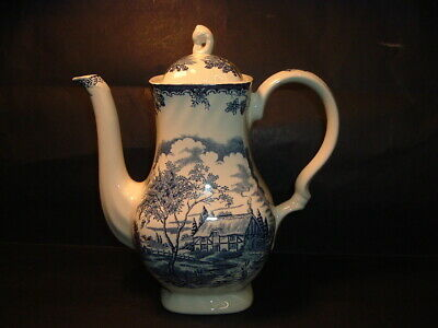 Myott Fine Staffordshire Ware Blue And White Coffee Pot • 4.99£