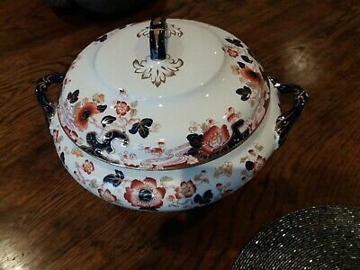 Super Large Soup Tureen By Keeling & Co Losol Ware 1880 Approx Tokio Pattern Vgc • 40£