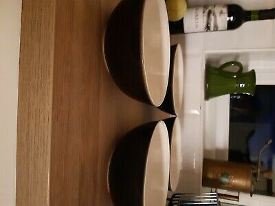 Denby Oyster Bowls Ideal For Pudding Breakfast Etc X 4 • 12.50£