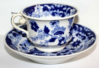 Hilditch & Son Antique Blue And White Georgian Cup And Saucer  • 15£