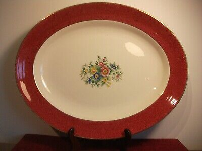 George Jones & Sons Crescent Ware Oval Serving Plate • 12.95£