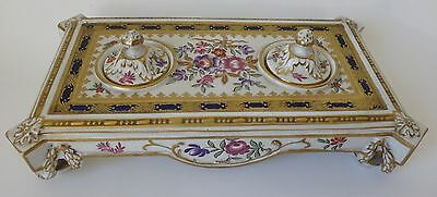 Booth's Antique Hand Decorated INKSTAND Retailed By Thomas Goode - Choice Piece • 149£