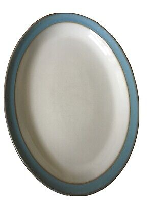 """Denby Colonial Blue Large Oval Serving Plate 13"""" • 10£"""