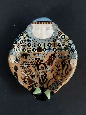 Laurie Eisenhardt Art Pottery Dish / Wall Hanging -  Dated 1998 • 75.13£