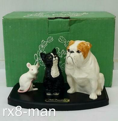 SUPERB BESWICK FIGURE SOLID FRIENDSHIP BULLDOG CAT & MOUSE BOXED MODEL No.4677 • 10£
