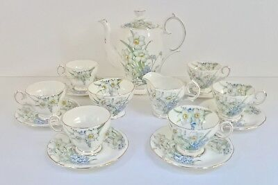 Vintage Bell China Pattern 4698 Narcissus & Forget-Me-Not Coffee Set – Lovely • 175£