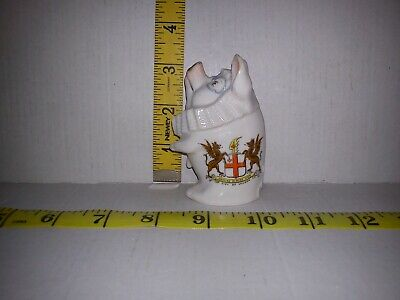 Rare Crested Ware Judge Pig City Of London Crest • 90£