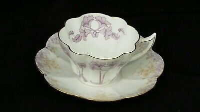 Antique The Foley China Reg 272764 Cup And Saucer Lavender Colour  • 12.99£