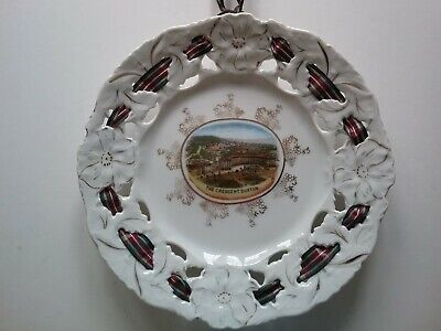 Vintage Ribbon Plate The Crescent Buxton Derbyshire Good Condition • 7.99£