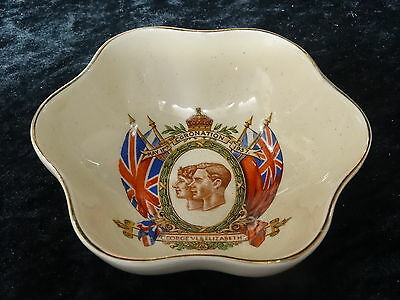 Goss China Dish Issued For King George VI Coronation 1937 • 19.99£
