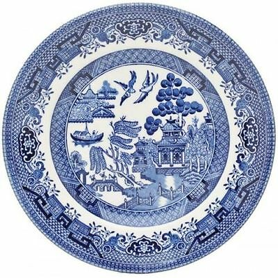 Churchill Willow Blue Dinner Plates Set Of 6 26cm New Home Office Daily Use • 29.95£