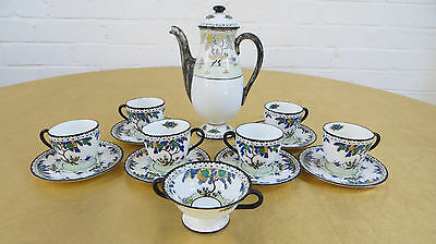 Antique Royal Doulton Coffee Set - 14 Pieces • 65£