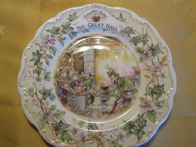Royal Doulton Brambly Hedge Plate - THE GREAT HALL (RARE, BOXED - MINT!) • 35.99£