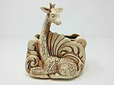 Vintage Shawnee Giraffe Pottery 521 Flower Table Planter, Beige & Brown  • 23.95£