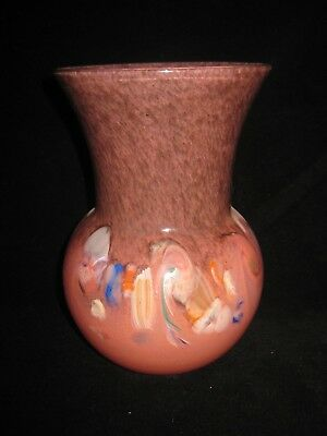 Beautiful Scottish Strathearn Glass Vase Peach • 45£