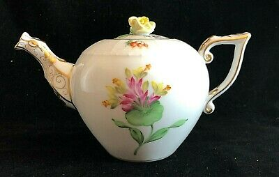 Beautiful HEREND TeaPot GV 1st Condition Immaculate • 150£