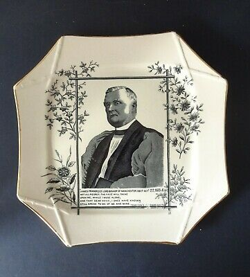 Commemerative Plate Issued In 1885: James Fraser, Lord Bishop Of Manchester • 24.99£