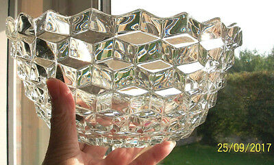 Art Deco Glass Bowl. Trifle Bowl. Fruit Dish. Superior Quality.9 Ins Fostoria ? • 15.50£