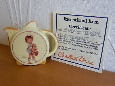 Mabel Lucie Attwell Rare Carlton Ware 'teddy' Special Mini Teapot & Certificate • 37.50£