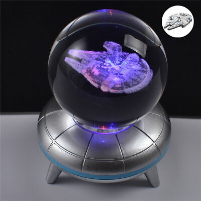 Star Wars Millennium Falcon 3D LED Crystal Decor Night Light Xmas Lamp Gift RGB • 18.99£