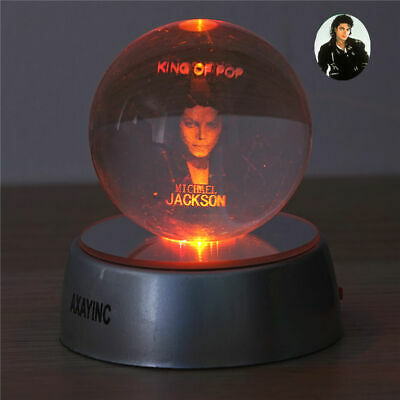 Michael Jackson 3D Crystal Night Light LED Xmas Child Table Lamp  Gift Toy Lamp • 16.99£
